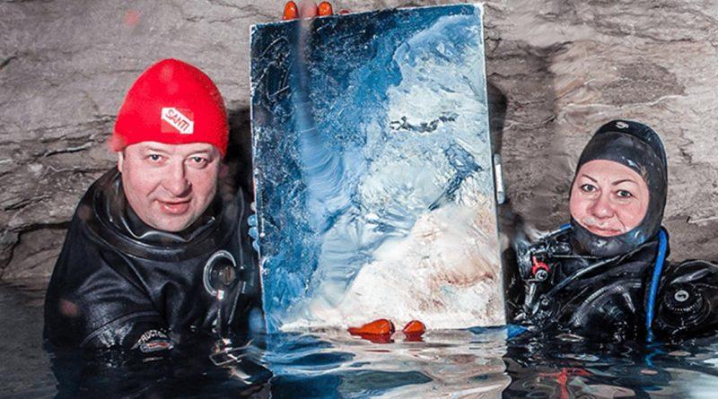 Живопись маслом под водой при температуре +5°С