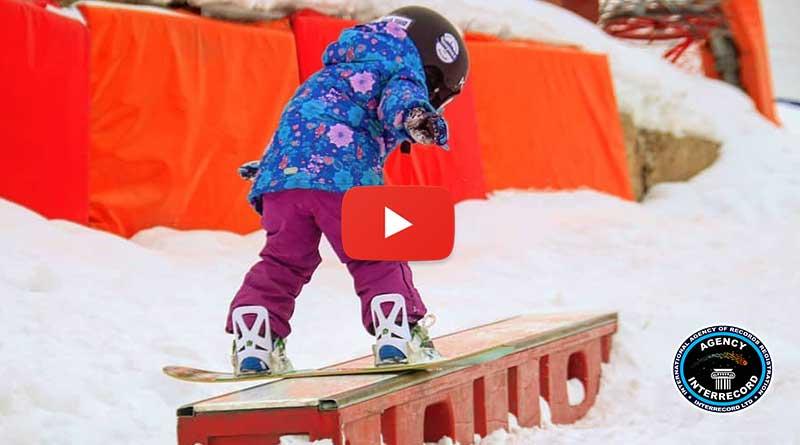 Прыжок с разворотом 360 градусов на сноуборде