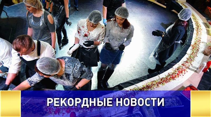 Самую длинную шаурму приготовили в Воронеже